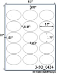 2 1/2 x 1 3/4 Oval<BR>Brown Kraft Printed Label Sheet<BR><B>USUALLY SHIPS IN 2-3 BUSINESS DAYS</B>
