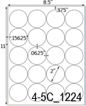 2 Diameter Round Clear Matte Polyester Laser Label Sheet<BR><B>USUALLY SHIPS SAME DAY</B>