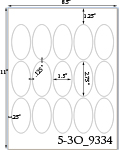 1 1/2 x 2 3/4 Oval<BR>Brown Kraft Printed Label Sheet<BR><B>USUALLY SHIPS IN 2-3 BUSINESS DAYS</B>