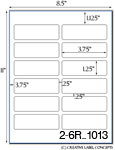 3 3/4 x 1 1/4 Rectangle Clear Gloss Polyester Laser Label Sheet<BR><B>USUALLY SHIPS SAME DAY</B>