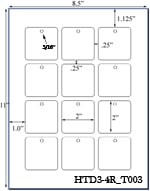 2 x 2 Square Micro-nikked Hang Tag Sheet<BR>w/ pre-drilled 3/16 hole<BR><B>USUALLY SHIPS SAME DAY</B>