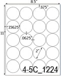 2 Diameter Round Clear Gloss Polyester Laser Label Sheet<BR><B>USUALLY SHIPS SAME DAY</B>