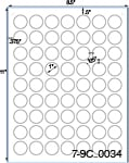 1 Diameter Round Clear Gloss Polyester Laser Label Sheet<BR><B>USUALLY SHIPS SAME DAY</B>